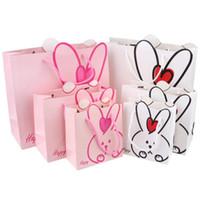 ingrosso scatole di partito di caramella dei bambini-Coniglio Design Kids Candy Box Cartoon Piccolo grande regalo Borse Bambini Birthday Party Decoration Goody Bag Party Favoe Gift Bag 0119