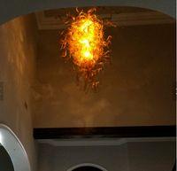 luminárias únicas venda por atacado-Moda Modern Iluminação Chihuly Estilo Lustres Venda Quente Projeto Único Simples Pingente de Luz Luminária de Vidro Soprado