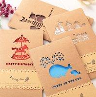 tarjetas de felicitación universales al por mayor-Tarjeta de felicitación de calado retro Tarjeta de felicitación de cumpleaños de negocios amor del negocio universal