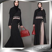 Wholesale east ethnic clothes online - Middle East Hot selling Women s Muslim Robe Dress Dubai Abaya Maxi Long Dresses Autumn Plus Size Ethnic Clothing