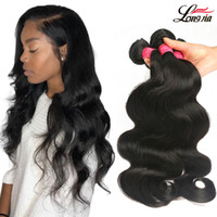 Wholesale straight human hair 24 inches online - Grade A Brazilian Body Wave or Bundles Deals Unprocessed Brazilian Straight Human Hair Extension Peruvian Virgin Hair Straight