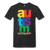 Wholesale puzzles c resale online - 100 Cotton Fashion T Shirts Crew Neck Short Sleeve Fashion Mens Autism Awareness Puzzle Tees T Shirt Men Gorgeous White Short Sleeve C