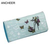 каблуки оптовых-Wallets Heels Handbag Square Butterfly Clutch High Zipper Butterfly Button Purse Print Women Casual Fashion Button