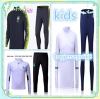 Wholesale sportswear for boys - 2018 World Cup Top Thailand FOR KIDS pogba soccer tracksuit 18-19 PORTUGAL Training suit pants football training clothes sportswear Sweater