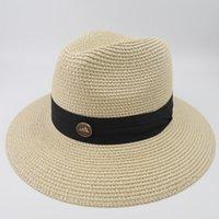 geniş şapkalı golf şapkaları kadınlar toptan satış-Profesyonel Şapka Toptancı 2019 100% kağıt hasır kadın Panama Şapka Vintage Geniş Ağız Bayanlar Yaz Plaj Açık Fashi EPU-MH1834