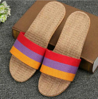 Wholesale knit sandals - summer female shower slippers flats shoes 2018 multi color lady loafers shoes knitted sandals beach slippers shoes mujers