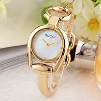 Wholesale Women Watch Bracelet Elegant - Luxury Italy Brand GUC Women Bracelet Watches Montre Femme Elegant Quartz Watch Women Reloj Mujer Gold Ladies Bracelet Relogio Feminino