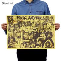 felsenwandpapier großhandel-Rock and Roll-Musik Poster Berühmte Rock-Sängerin Personalisierte Raumdekoration Kraftpapier Wandaufkleber