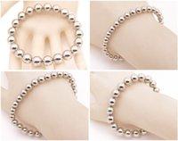 neodym magnete bälle großhandel-Silberne Farbe Magnetic Round Ball Armband DIY 7