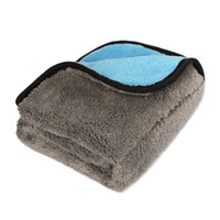 Wholesale Thick Microfiber Cleaning Cloths - Car Care Wax Polishing Detailing Towels Car Washing Drying Towel Super Thick Plush Microfiber Car Cleaning Cloth 1pc
