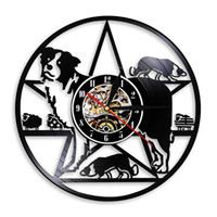 Wholesale art border designs - diy gift for clock change 2018 Border Collie Dog Art Vinyl Wall Clock Gift Style Art European Epidemic hanging For new design