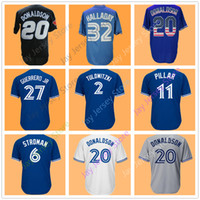 Wholesale baseball joe - 6 Marcus Stroman Jersey 27 Vlad Vladimir Guerrero Jr. 32 Roy Halladay Justin Smoak Kevin Pillar Joe Carter Russell Martin Men Women Youth
