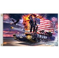ingrosso decorazioni di colore grigio giallo-Vendita calda bandiere 3x5ft Trump bandiere personalizzate con due gommini 100D stampa digitale poliestere bandiere personalizzate DHL FEDEX SN1421 libero