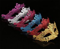 seksi mardi gras toptan satış-Parti Glitter Altın Glitter Ile Maske Maske Venedik Unisex Sparkle Masquerade Venedik Seksi Maske Mardi Gras Kostüm C196