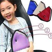 suportes de cinto de nylon venda por atacado-Hildren Cinto De Segurança Do Carro Titular Criança Regulador De Segurança Triângulo Triângulo De Segurança Do Carro Cintos de Segurança Do Carro Ajustador Ajustador Clipe Acessórios GGA139