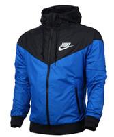 горячие спортивные пальто мужчины оптовых-Осень-Горячая ! Мужчины весна / осень тонкий куртка пальто, мужчины и женщины спортивные ветровка куртка взрыв черный модели ветровка куртка пара Z252