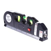 herramientas para medir al por mayor-YIKODA Laser Level Horizon Medida vertical 8FT Aligner Regla estándar y métrica Multipurpose Measure Level Laser Measure Tools