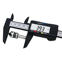 herramienta de medida de medida al por mayor-2018 Venta QST Nueva Llegada 1 unid 0150mm 6 Pulgadas Lcd Digital de Fibra de Carbono Vernier Caliper Gauge Micrómetro Herramientas de Medición 20 unids