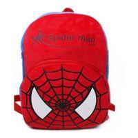 ingrosso bambino di batman-Zaini per bambini più grandi Zaini scuola di 5 anni Zaino Spiderman Batman super mario fila mochila anime bag bambino borsetta peluche bookbags