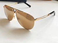lente unisex al por mayor-Lujo 2314 Gafas de sol para Unisex Moda Oval diseñador Protección UV Lente Revestimiento Espejo Color de la lente chapado Marco viene con el paquete