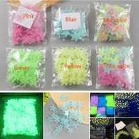 Wholesale stars wallpaper for sale - Group buy 3D Stars Luminous Fluorescent Wall Stickers With Adhesive Baby Kids Rooms Home Decoration Decal Wallpaper Decorative Christmas Gift HH7