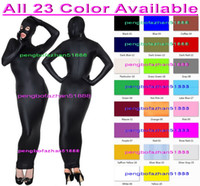 ingrosso navy costume halloween-Sexy 23 colori Lycra Spandex Body Bags Suit Costumi Con Occhi Aperti Bocca Sexy Sacco a pelo Outfit Halloween Fancy Dress Cosplay Suit P155