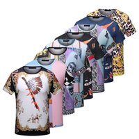 Wholesale Floral Pocket T Shirt - bee poios Fashion VOGUE TRIPTYCH Print Luxury tshirt Mens Designer T Shirt Men's 3D Medusa Head tshirts Short Sleeve Fitness Cotton T-shirts