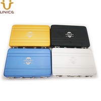 maleta mini tarjeta al por mayor-50 unids / lote su LOGOTIPO personalizado Cardcase Maleta de imitación Mini Maletín Nombre de tarjeta de crédito titular de la tarjeta de crédito de la aleación de aluminio