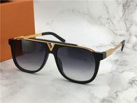 Wholesale black mascots - The latest selling popular fashion men designer sunglasses Mascot square plate metal combination frame uv 400 outdoor eyewear with box 0937