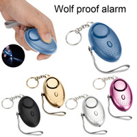 Wholesale wireless security alarms online - personal Alarm db Egg Shape Self Defense Alarm anti Wolf Girl Women Security Protect Alert Loud colors led light Keychain Alarm
