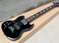 Wholesale customize bass guitar online - 4 Strings Left hand Electric Bass Guitar with Rosewood Fretboard Black Pickguard Chrome Hardwares offering customized services
