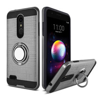 Wholesale good quality phone cases online – custom For LG Q7 plus metropcs Alcatel Hot Sale Newest Good Quality PC TPU Brushed Metal Hybrid Phone Case Durable Cover oppbag