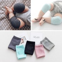 Wholesale infant crawling pads online - Baby Toddler Crawling Knee Pads Soft Anti Slip Kneecap Coverage Elastic Infant Leg Guard Pure Color nr Ww