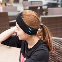 kafa bandı hoparlörleri toptan satış-Drop shipping Bluetooth Uyku Bandı Kulaklıklar Bluetooth Kablosuz Müzik Uyku Kulaklık Spor Headbands Dahili Hoparlörler Mikrofon