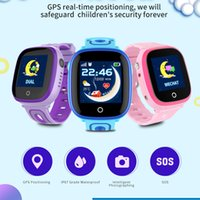 Wholesale real kids phones resale online - Best Quality DF31G Kids Smart Watch IP67 Waterproof GPS Real Time Positioning with Camera Touch Screen SOS Cell Phone Children Monitor