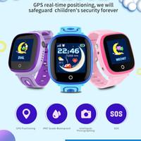 sehen sie kinder handy gps großhandel-Beste Qualität DF31G scherzt intelligente Uhr IP67 wasserdichte GPS-Realzeitpositionierung mit Kamera-Touch Screen SOS Handy-Kind-Monitor