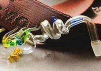 tubos de água de vidro dragão venda por atacado-Dois anel pote de dragão, Atacado Bongos Queimadores de Óleo Tubos De Tubos de Vidro de Vidro Tubos de Perfuração Frete Grátis