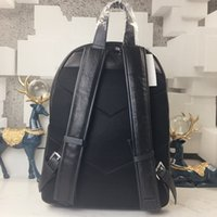 Wholesale Name Brand Backpack - 2018 100% Genuine leather backpack for men and womens backpacks luxury brand mens backpack high quality famous brand name school backpack