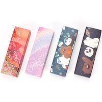 macaron hediye paketi toptan satış-Karikatür Tatlı Macaron Kutusu Düğün Şeker Çikolata Pasta Ambalaj Kutuları Kiraz Sakura Hediye Kutusu Ücretsiz Kargo ZA6584