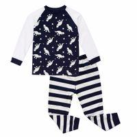 225cc6bd17 Biniduckling 2017 Otoño Ropa de dormir de los bebés del bebé Pijama  Conjuntos Dinosaurio a rayas Impreso T -Shirt + Pants 2pcs Bebes Ropa para  niños