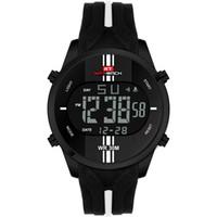 большие светодиодные часы оптовых-KAT-WACH Relogio Masculino Digital Sport Car Watch LED Backlit Big Face Design Eco-friendly Rubber Strap Wrist Watch Clock