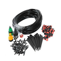 Wholesale high quality garden hoses for sale - Group buy High Quality DIY Micro Drip Irrigation System Plant Automatic Self Watering Garden Hose Kits x Adjustable Dripper M HG99