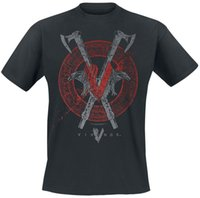 ворон черный оптовых-Футболка с длинным рукавом Vikings Axe Raven черная футболка с капюшоном в стиле хип-хоп