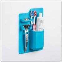 Wholesale Toothbrush Toothpaste Case - Silicone Toothbrush Holder Bathroom Toothbrush Rack Toothpick Sanitary Toiletries Shaver Organizer Toothpaste Storage Case CCA8773 60pcs