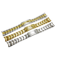 Watch Accessories 20mm Intermediate Polishig Solid Steel Strap Curved End Watch Band Strap Bracelet STAINLESS STEEL for Submariner+tools