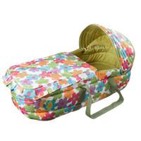 sepet bebekler toptan satış-Taşınabilir Bebek Beşiği Bebek Carrycot Katlanır Bebek Yatağı Kolay Taşıma Yenidoğan Seyahat Bassinet Bebek Uyku Sepeti