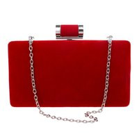 Wholesale elegant evening clutch bags - New brand fashion women messenger bags elegant Suede Clutch banquet woman party evening wallet box bag