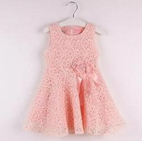 Wholesale red kill - children girls vestidos newest floral pink layered tulle tutu lovely princess party sundress girls dress hot selling killing price B11