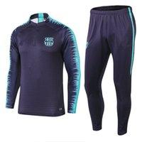 Wholesale floral hoodie men - 1819 world cup Barcelonabarca tracksuit Messi Print Cardigan Men Hoodies Sweatshirts Casual Sportwear Zipper Jacket Coat Slim tracksuit