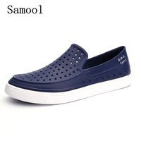 Wholesale Wholesalers For Cool Shoes - Casual Native summer man sandals Hollow Outdoor Jelly Garden Breathable hole cutout Slip On male cool Flat solid Shoes for men